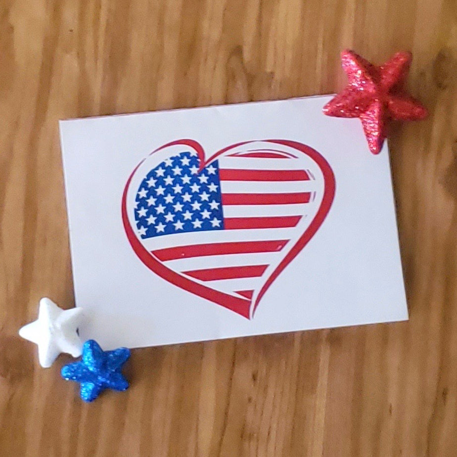Love USA Printable Greeting Card (Digital Download)