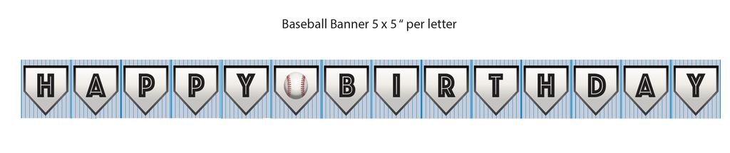 Baseball Printable Banner (Digital Download)