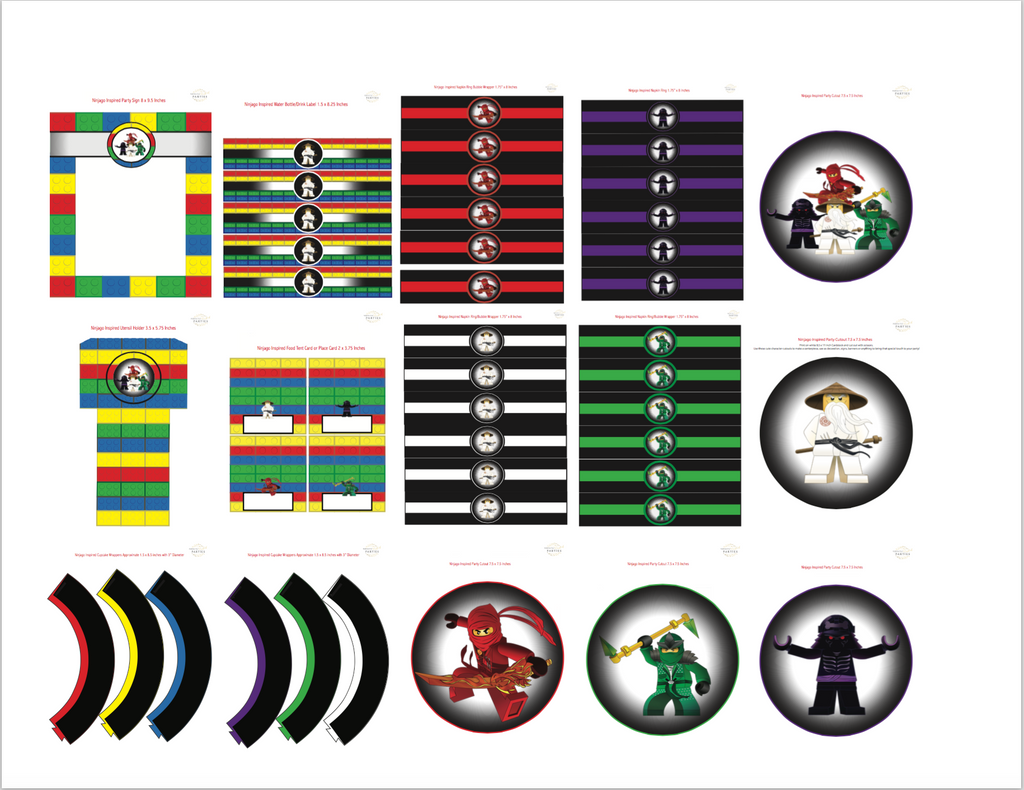 Ninjago Inspired Printable Collection (Digital Download)