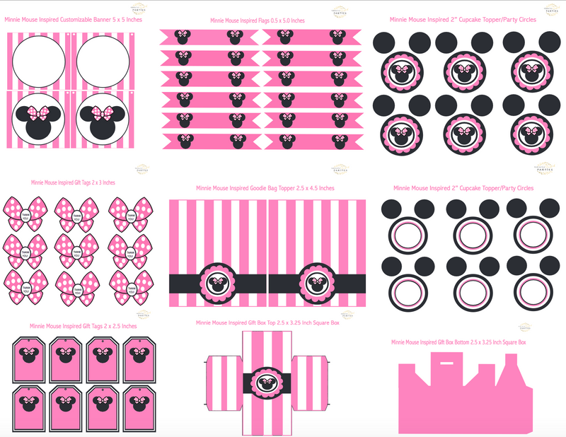 Minnie Mouse Inspired Printable Collection (Digital Download)