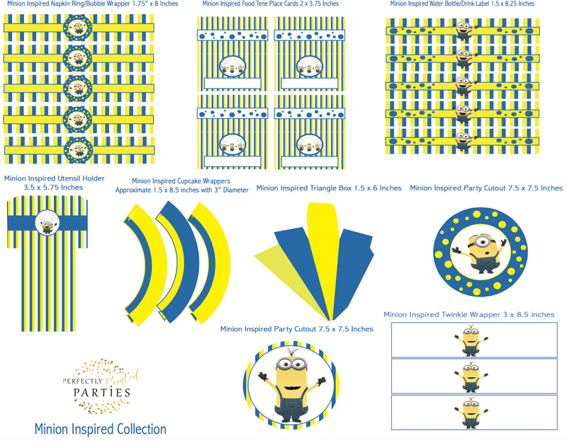 graphic relating to Minions Logo Printable named Minions Motivated Printable Choice (Electronic Obtain)