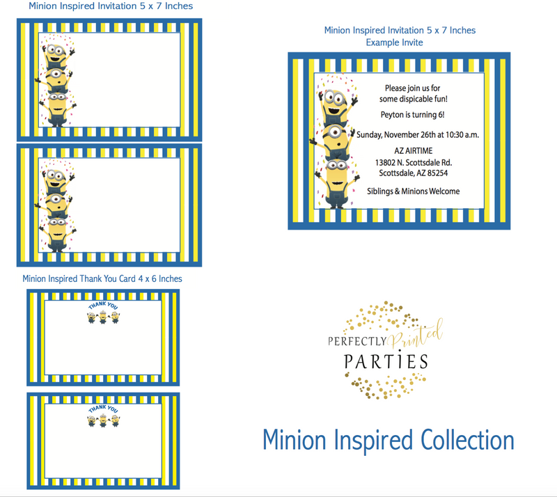 Minions Inspired Printable Invitation (Digital Download)
