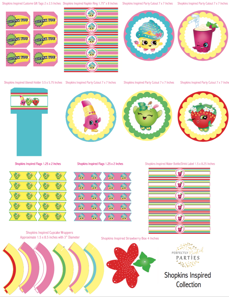 Shopkins Inspired Printable Collection (Digital Download)
