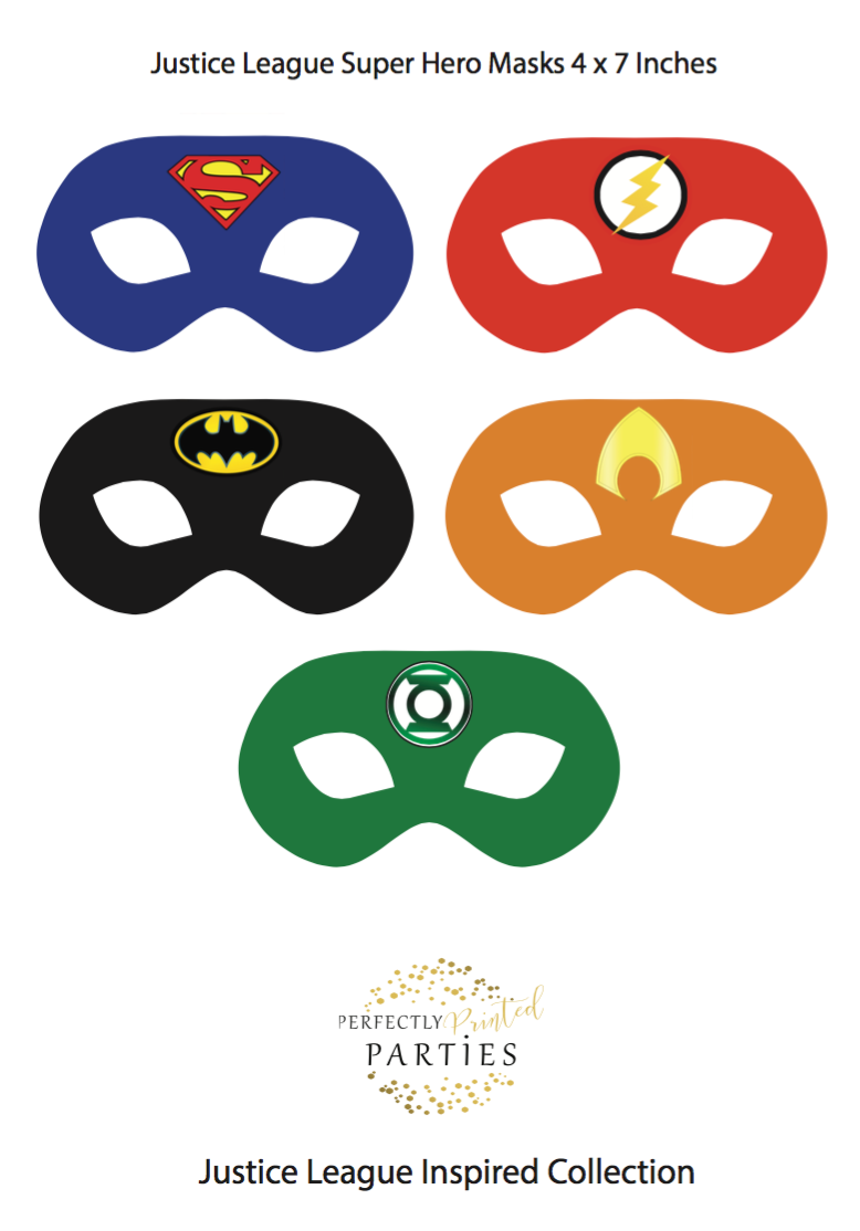 Justice League Inspired Masks (Digital Download)