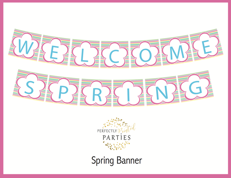Welcome Spring Printable Banner (Digital Download)