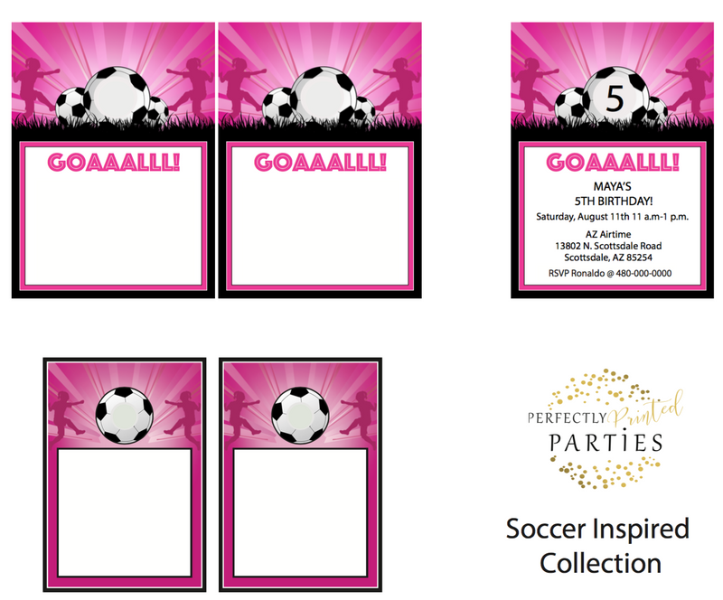 Soccer Printable Invitation (Digital Download)