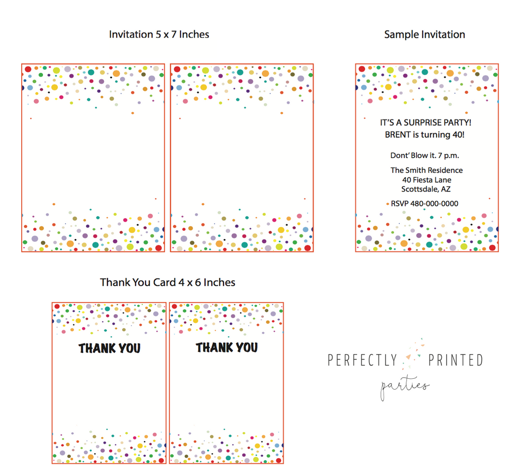 Let's Party Printable Invitation (Digital Download)