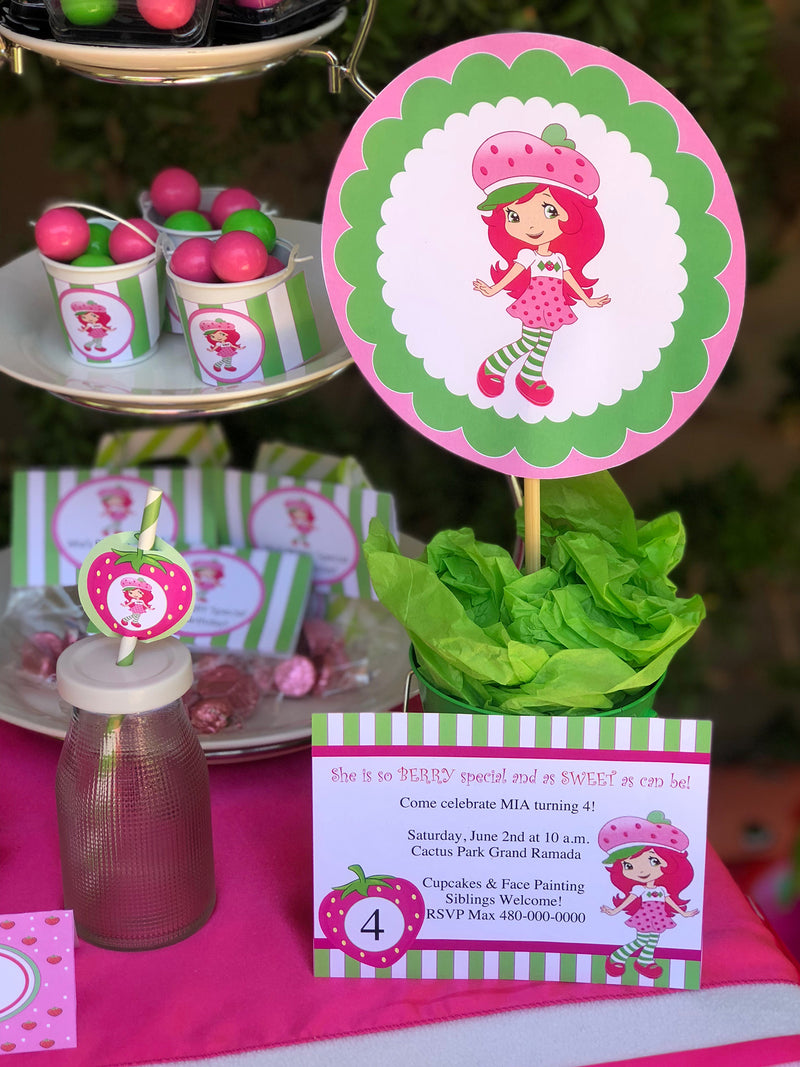 Strawberry Shortcake Inspired Printable Collection (Digital Download)