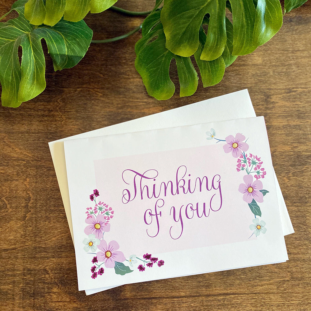 Thinking of You Greeting Cards & Envelopes (2 included)
