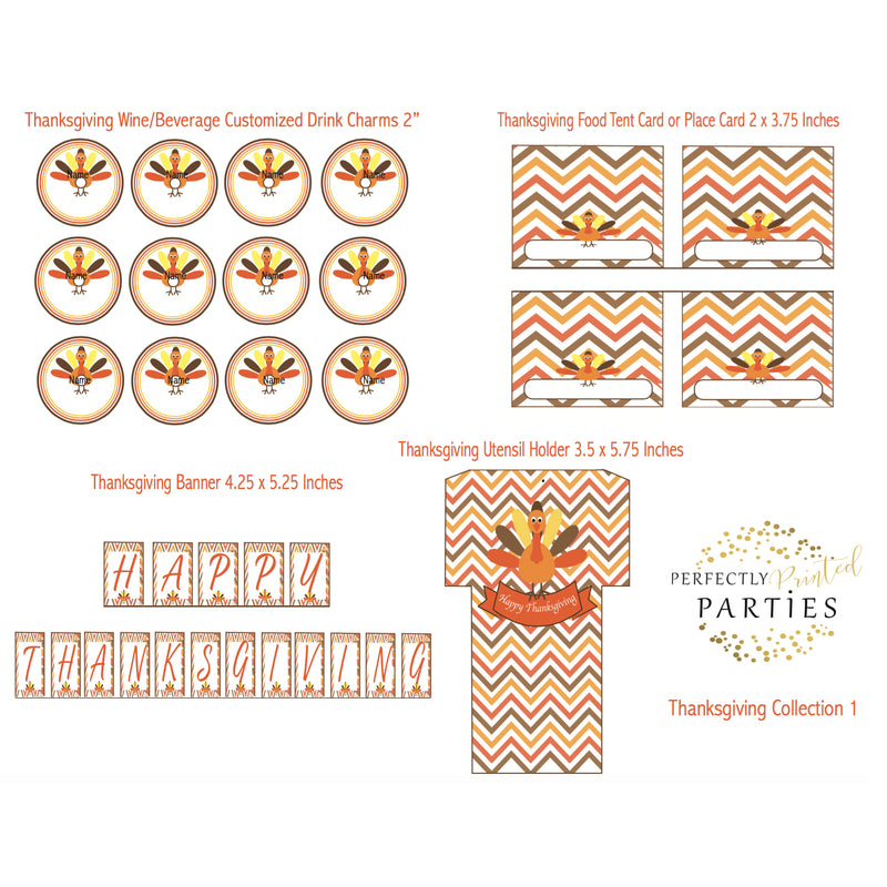 Thanksgiving Turkey Printable Collection (Digital Download)