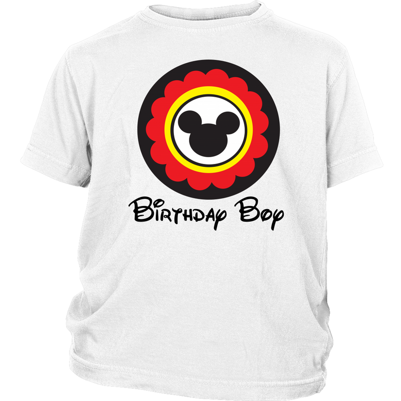 Mickey Mouse Inspired Birthday Boy Youth T-shirt
