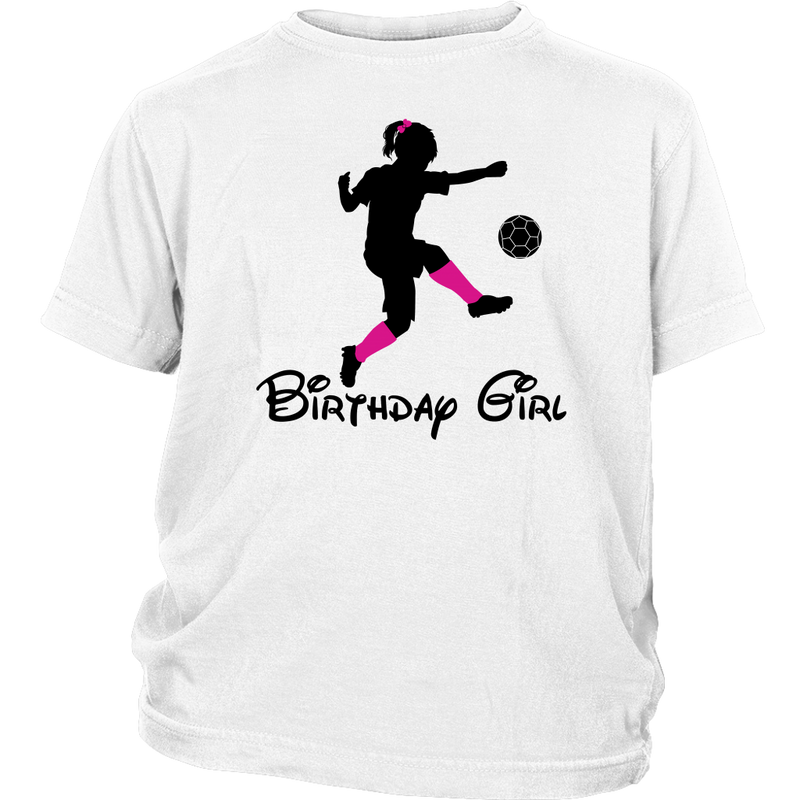 Soccer Birthday Girl Youth T-shirt