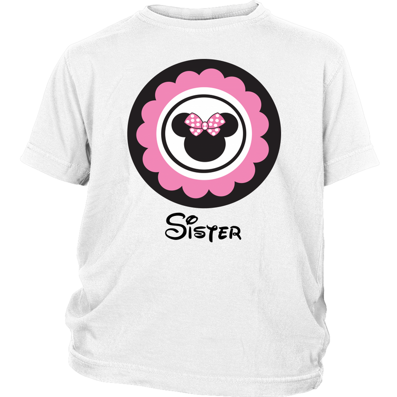 Minnie Mouse Inspired Sister Youth T-shirt
