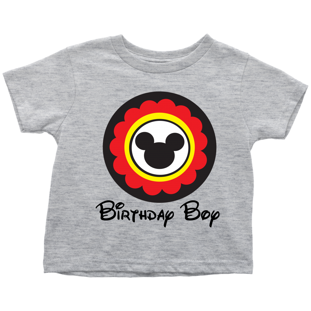 Mickey Mouse Inspired Birthday Boy Toddler T-shirt