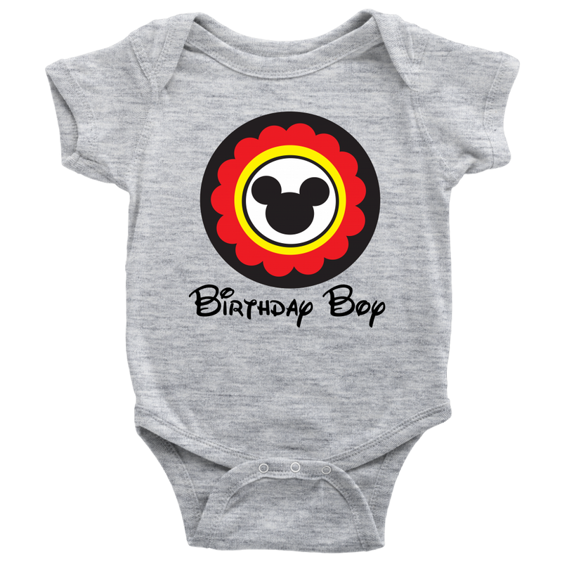 Mickey Mouse Inspired Birthday Boy Onesie