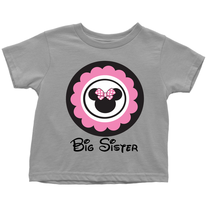 Minnie Mouse Inspired Big Sister Toddler T- Shirt