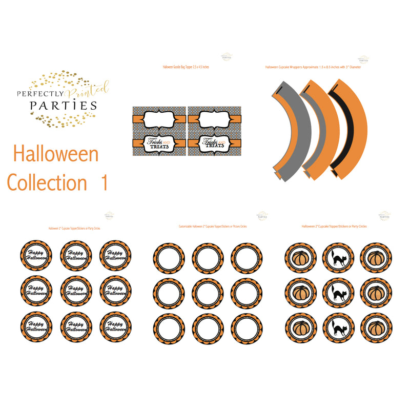 Tricks and Treats Halloween Printable Collection (Digital Download)