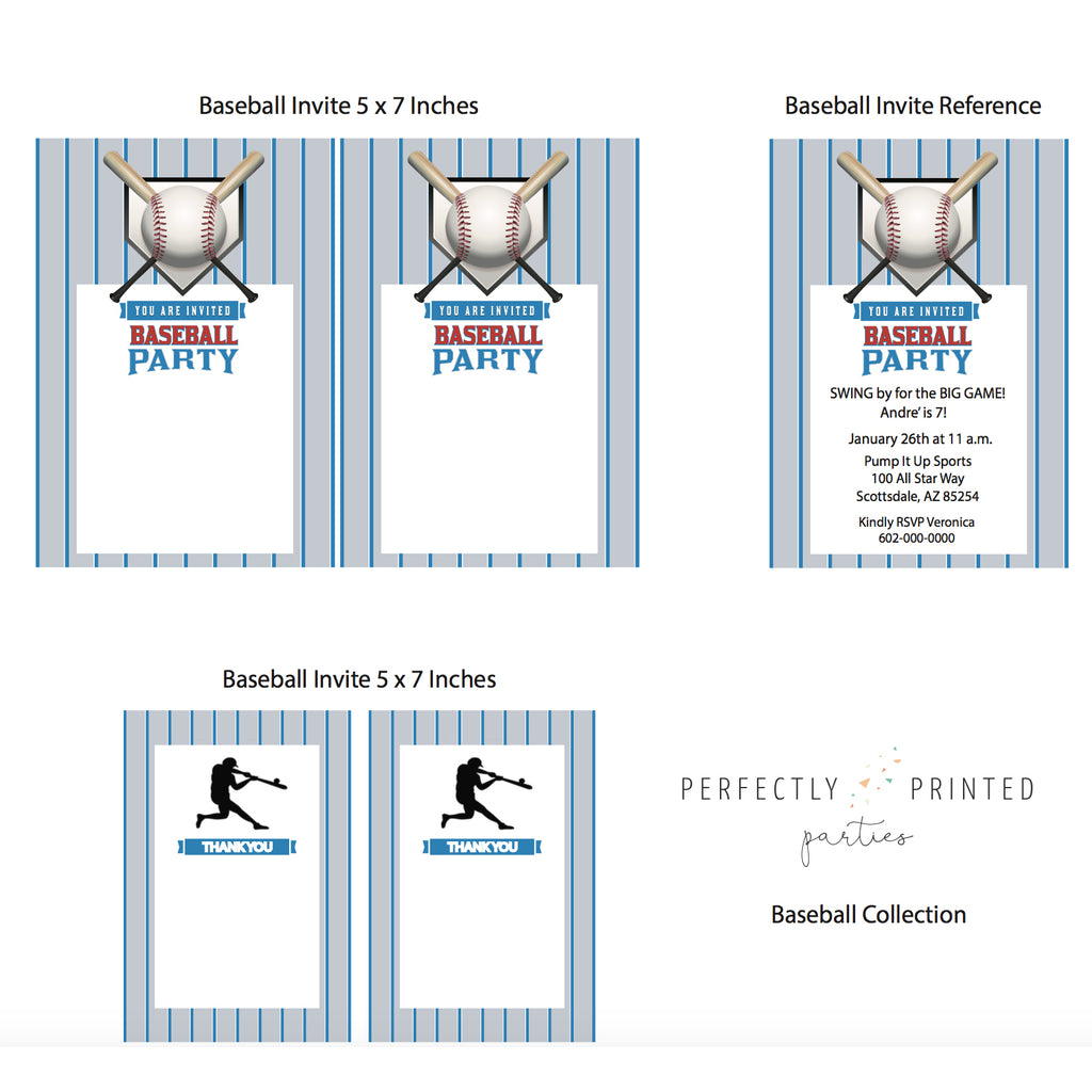 Baseball Printable Invitation (Digital Download)