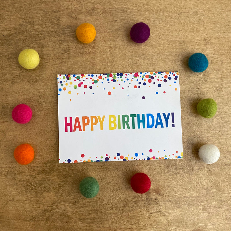 Birthday Confetti Printable Greeting Card (Digital Download)