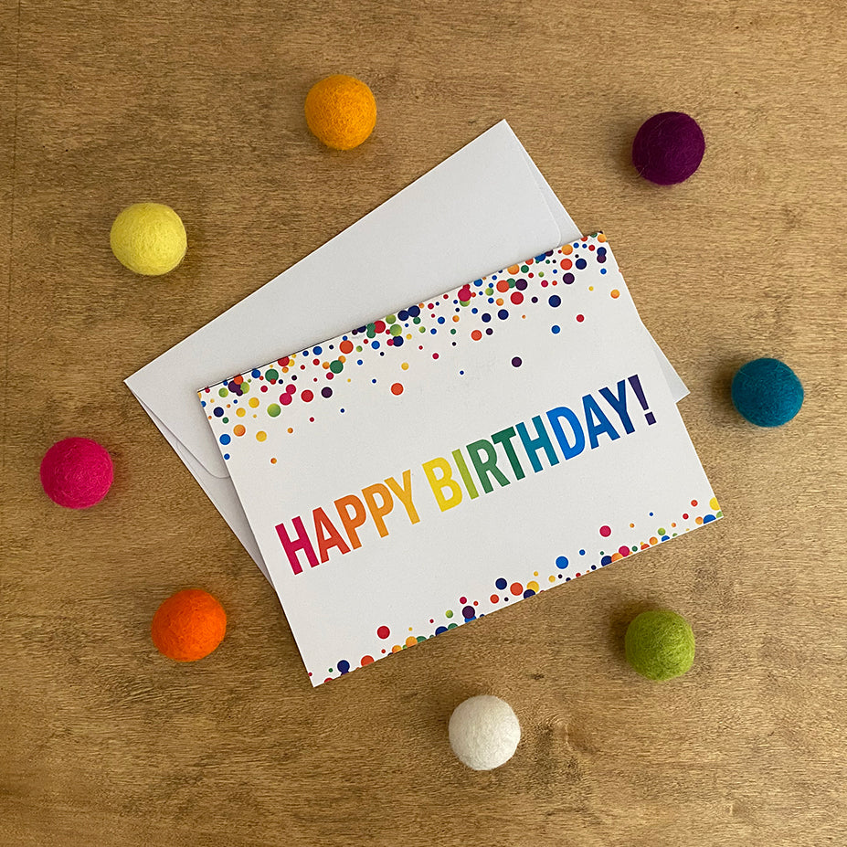 Birthday Confetti Greeting Cards & Envelopes (2 included)