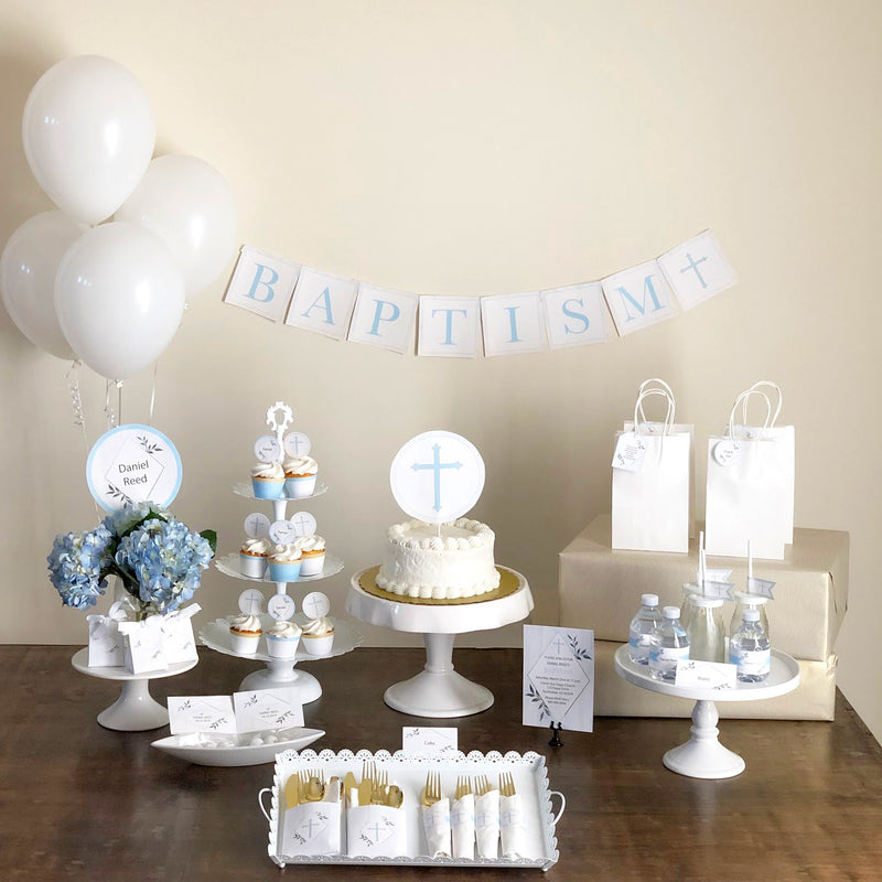 Blue Baptism Printable Collection (Digital Download)