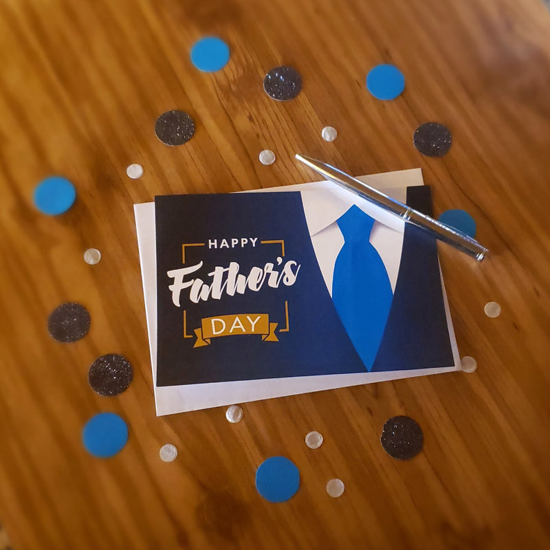 Happy Father's Day Greeting Cards & Envelopes (2 included)