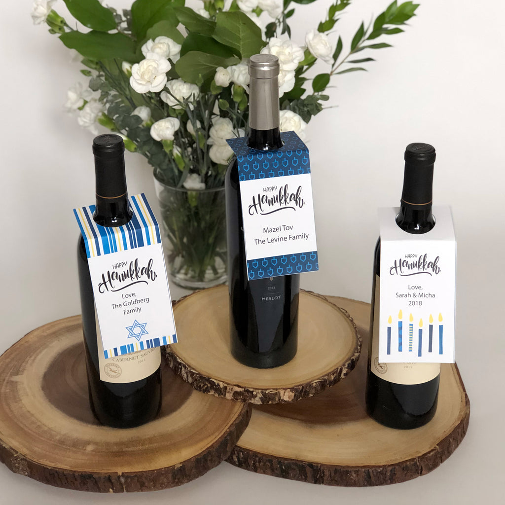 Hanukkah Wine Bottle Tags (Digital Download)