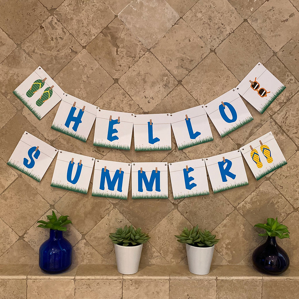Hello Summer Printable Banner (Digital Download)