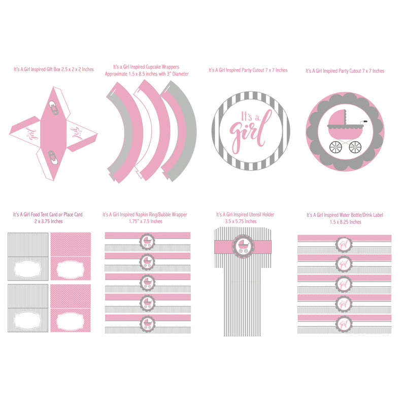It's A Girl Printable Collection (Digital Download)
