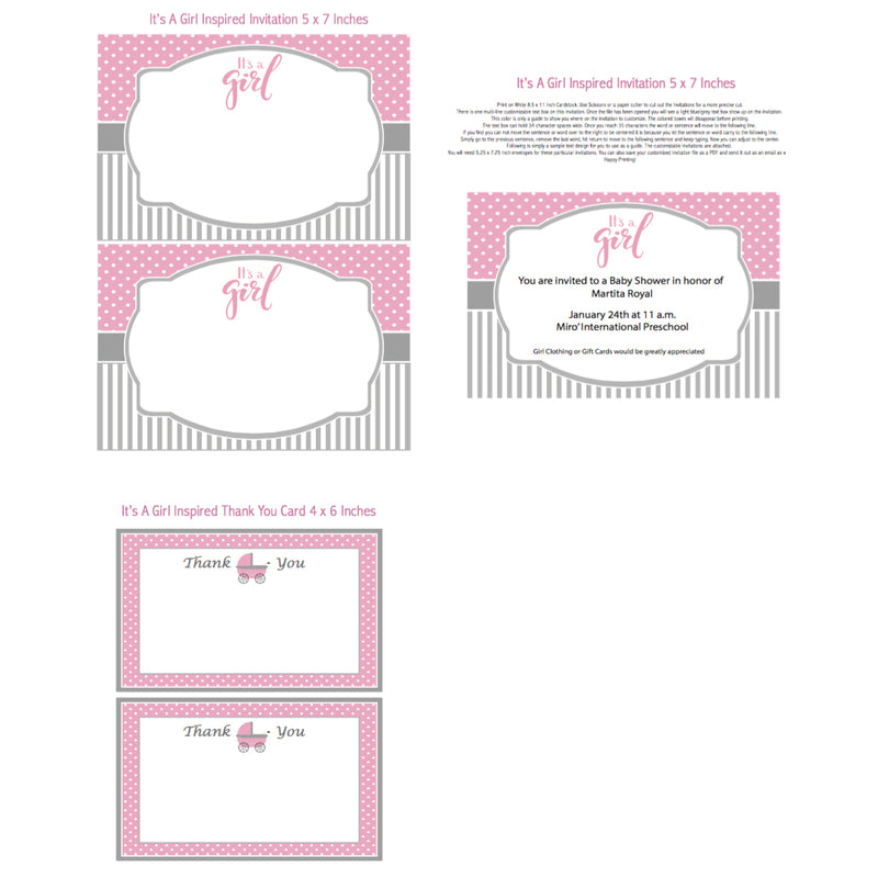 Oh Baby Printable Invitation (Digital Download)