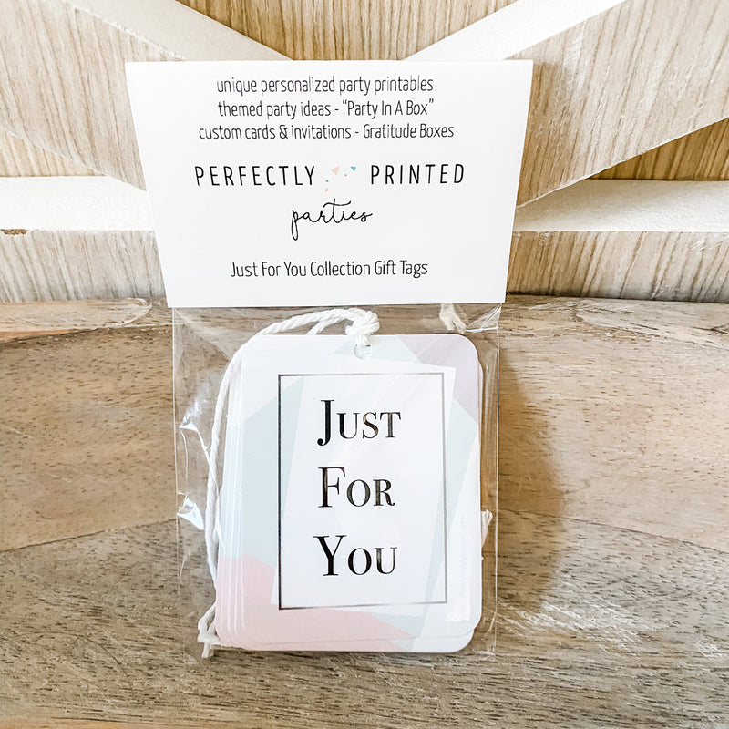Just For You Gift Tags (10 Included)
