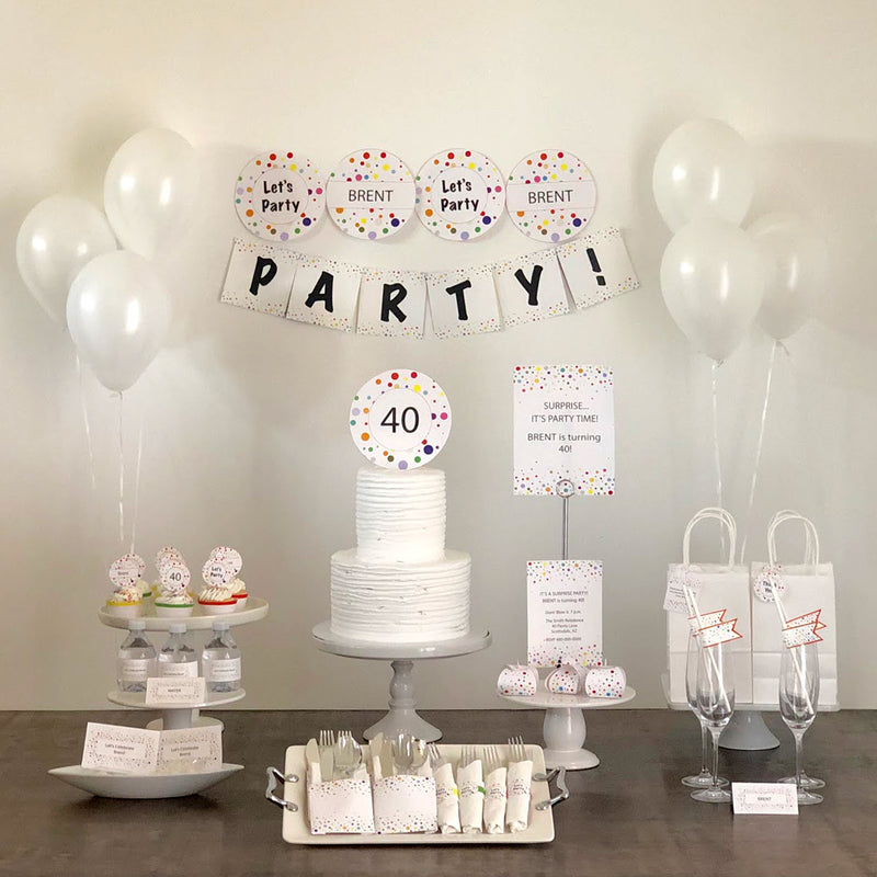 Let's Party Printable Collection (Digital Download)