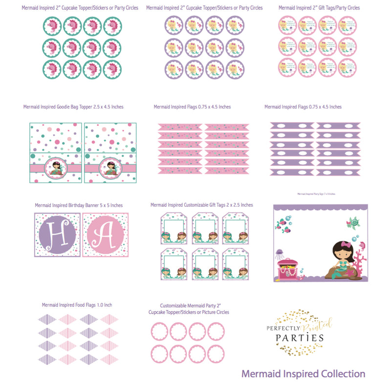 Mermaid Printable Collection (Digital Download)