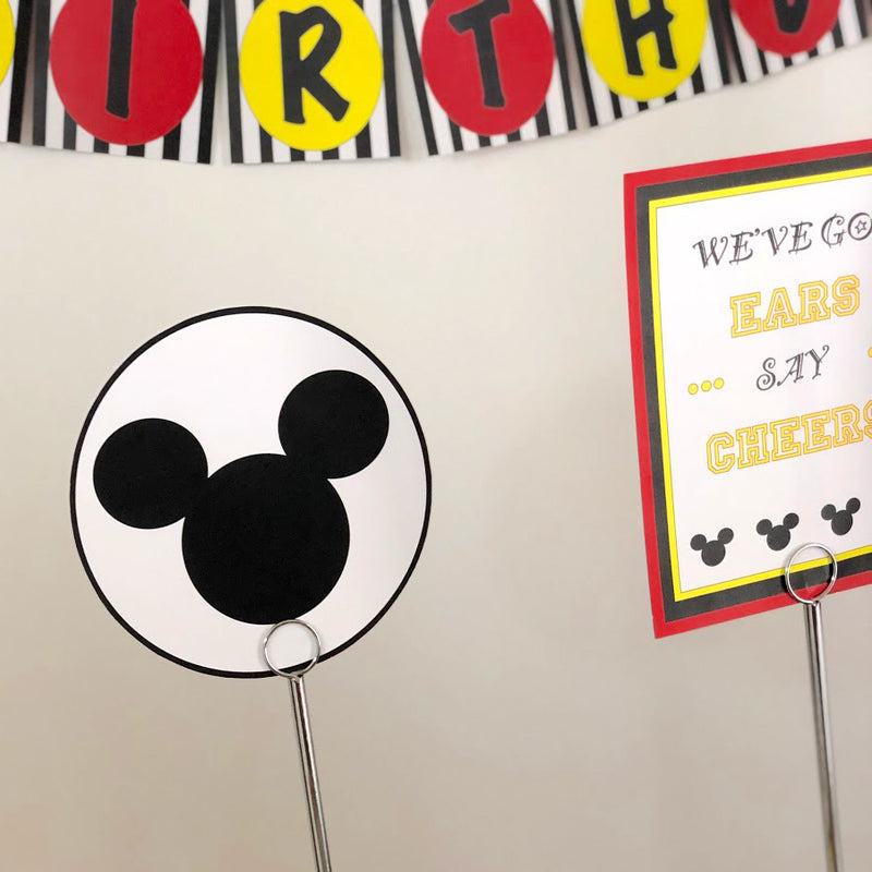 Mickey Mouse Inspired Printable Collection (Digital Download)