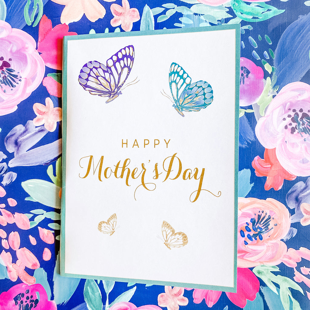 Mother's Day Butterfly Greeting Card & Envelopes (2 included)