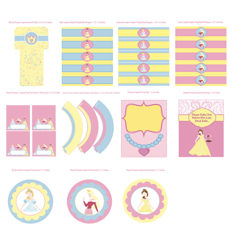 Disney Princess Inspired Printable Collection (Digital Download)