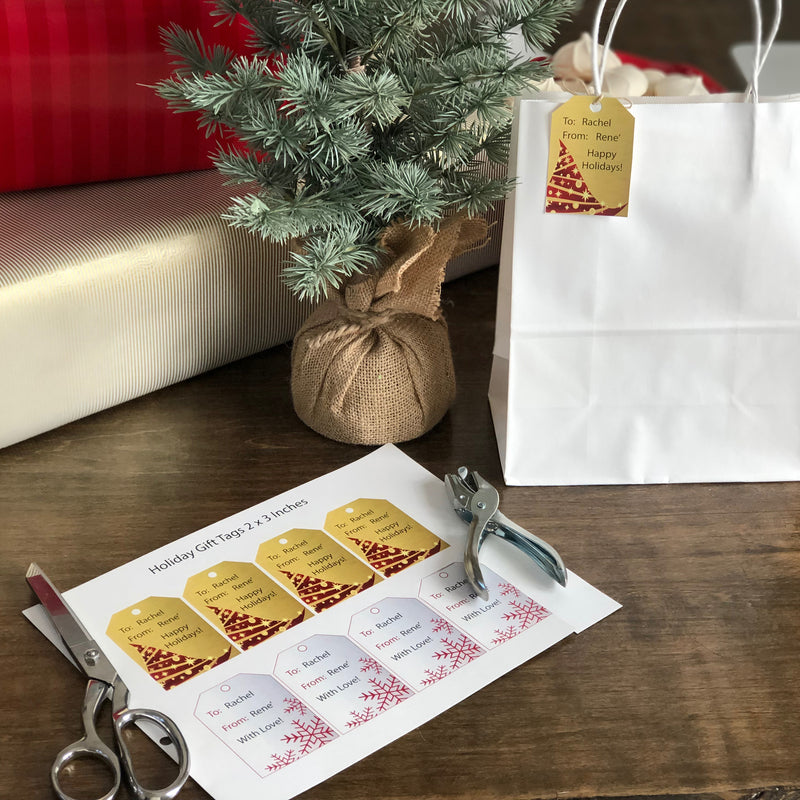 Holiday Gift Tags (Digital Download)