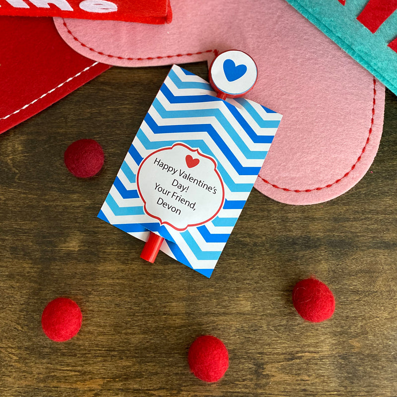 Blue Valentine's Day Treat Holder Printable Collection (Digital Download)