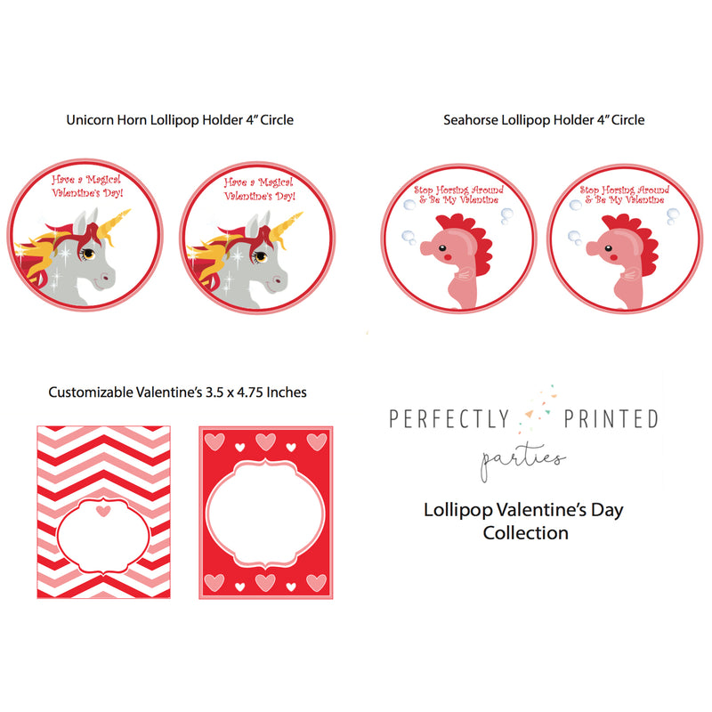 Red Valentine's Day Treat Holder Printable Collection (Digital Download)