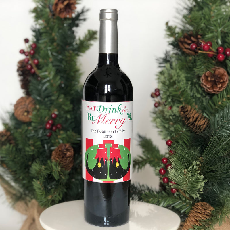 Holiday Wine Bottle Label Printable Collection (Digital Download)