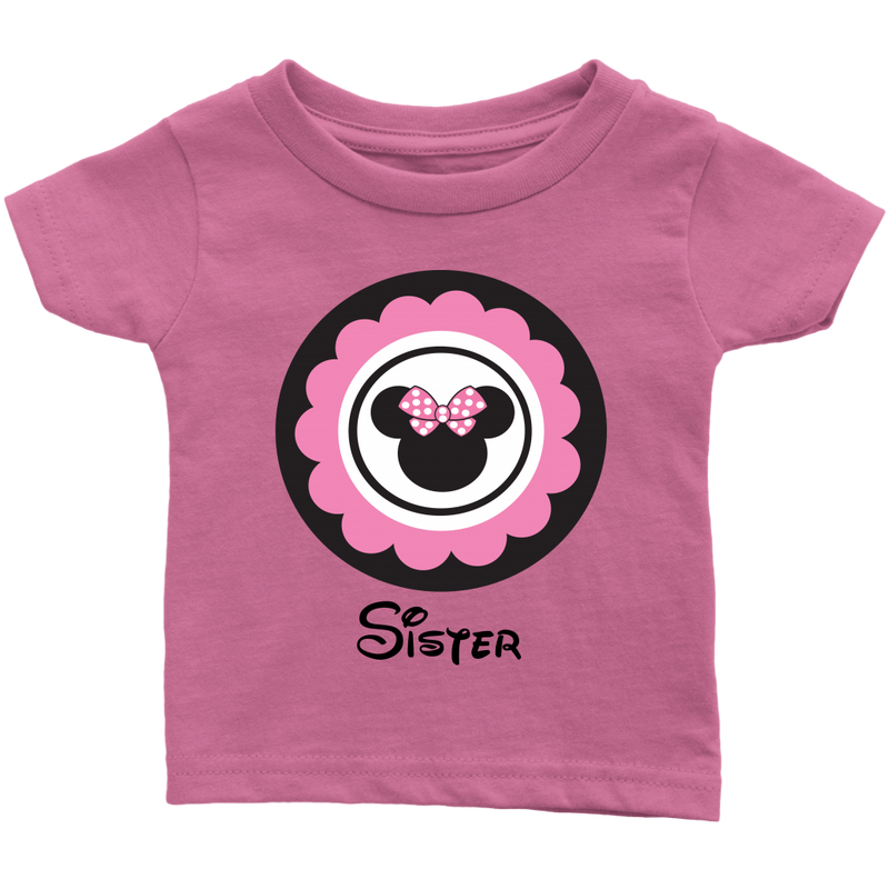 Minnie Mouse Inspired Sister Infant T-shirt