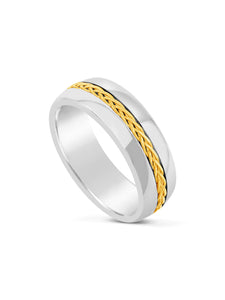 Limitless Mens Two Toned Tungsten Band LR18