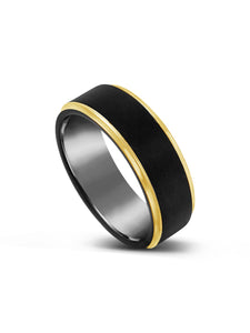 Limitless Mens Two Toned Tungsten Band LR