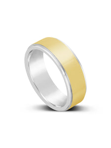 Limitless Mens Two Toned Tungsten Band LR20