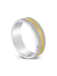 Limitless Mens Two Tone Tungsten Band LR27