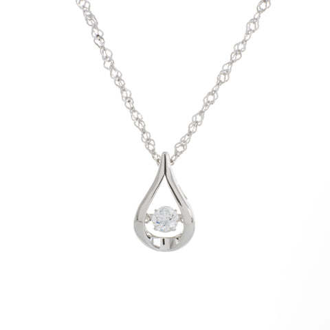 Kiss swarovski cz sterling silver dancing stone pendant charmed story kiss swarovski cz sterling silver dancing stone pendant aloadofball Image collections