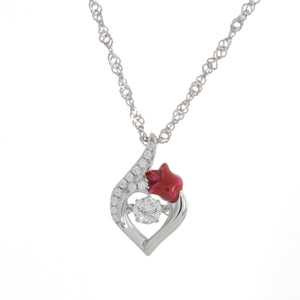 Love And Passion Swarovski CZ Dancing Pendant