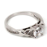 Triangle Accented Engagement Ring Mounting (0.19 ct. tw.)