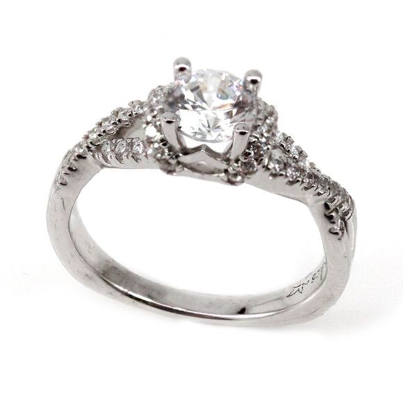 Twist Engagement Ring Mounting (0.27 ct. tw.)