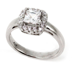 Cushion Halo Solitaire Engagement Ring Mounting (0.21 ct. tw.)